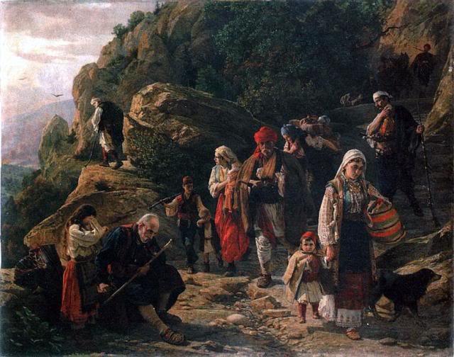 Uroš Predić, Hercegovački begunci