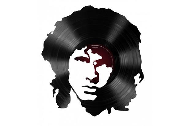 Portreti muzičkih legendi sačinjeni od vinila
