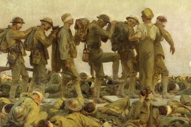 John Singer Sargent – Gassed (detalj)