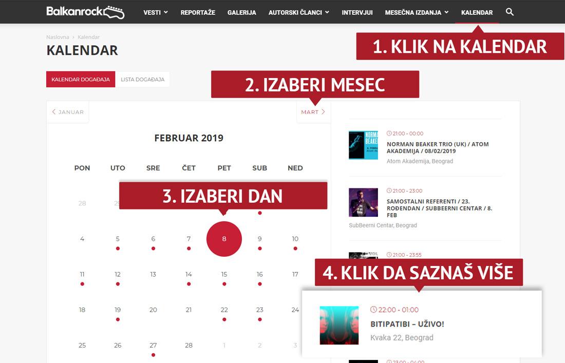 kalendar događaja balkanrock svirke u beogradu zagrebu gde kad i ko koncerti događaji