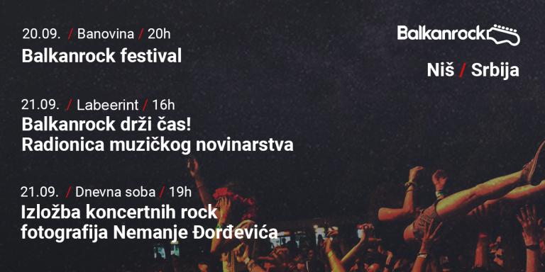Festival, radionice i izložba; Balkanrock vikend u Nišu