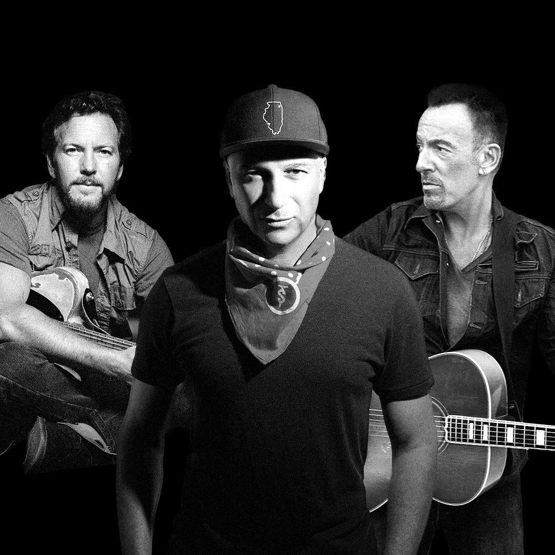 Tom Morello, Bruce Springsteen, Eddie Vedder